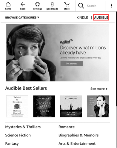 How do i add audible to a kindle book